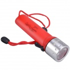 RichFire SF-603B Cree XR-E Q5 180lm 2-Mode Waterproof Diving Flashlight - Red + Silver (4 x AA)