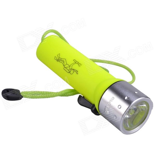 RichFire SF-603C LED 180lm 2-Mode Waterproof Diving Flashlight - Yellow + Silver (4 x AA)