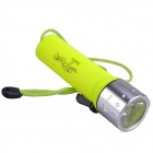 RichFire SF-603C Cree XR-E Q5 180lm 2-Mode Waterproof Diving Flashlight - Yellow + Silver (4 x AA)