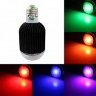 Zweihnde E27 7W 420lm LED RGB Light Bulb w/ Remote Controller - White + Black (90~260V)