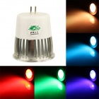 Zweihnder MR16 5W 300lm 1-LED RGB Light Bulb w/ Remote Control - Silver + White (90~260V)