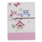 Stylish Owl Pattern Protective PU Leather Case Cover Stand for IPAD AIR - Multicolored