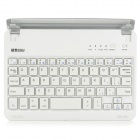 B.O.W Rechargeable Bluetooth V3.0 59-Key Keyboard for IPAD MINI w/ Dock Station - Silver + White