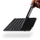 B.O.W Rechargeable Bluetooth V3.0 64-Key Keyboard w/ Magnetic Rod for IPAD AIR - Silver + Black
