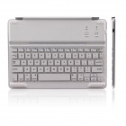B.O.W Rechargeable Bluetooth V3.0 64-Key Keyboard w/ Magnetic Rod for IPAD AIR - Silver + White
