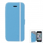 iPai HY3328 Multifunctional Protective PU Leather Case Cover for IPHONE 5C - Blue + White