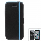 iPai HY3328 Multifunctional Protective PU Leather Case Cover for IPHONE 5C - Blue + Black