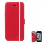 iPai HY3328 Multifunctional Protective PU Leather Case Cover for IPHONE 5C - Red + White
