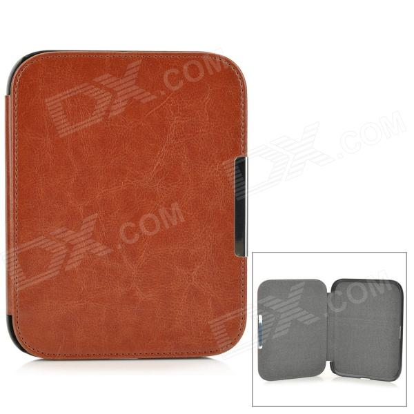 Protective PU Leather + PC Case for Nook GlowLight - Brown + Black protective pu leather pc case for nook glowlight brown black