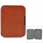 Protective PU Leather + PC Case for Nook GlowLight - Brown + Black