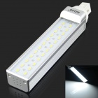 HZLED G24 12W 1100lm 6000K 24 x SMD 5630 LED White Light Lamp Bulb - White + Silver (AC 85~265V)