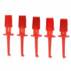 LSON ABS Test Clip Hooks - Red (5 PCS / Small-Size)