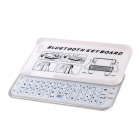 Slide-out Bluetooth V3.0 51-Key Keyboard for IPHONE 5 / 5S - White