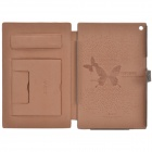 Zenus Casual Style Protective Genuine Leather Case Cover Stand for Sony Xperia Tablet Z - Tawny