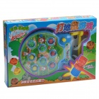 Fancy Whack-a-mole Toy w/ Electric Music - Green + Blue (2 x AA)