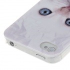 Animal Series Cute Cat Style Protective Plastic Back Case for IPHONE 4 / 4s - White