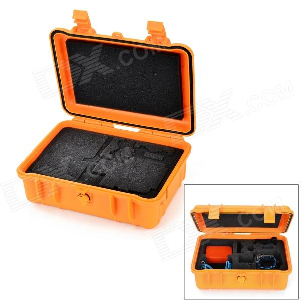 HGYBEST Waterproof Dustproof Pressure-proof Safety Box for GoPro 4/2 / 3 / 3+ / SJ4000 - Orange pressure safety design practices for refinery and chemical operations