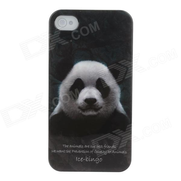 Animal Series Cute Panda Style Protective Plastic Back Case for IPHONE 4 / 4S - White + Black coteetci w6 luxury stainless steel magnetic watchband for apple watch series 1 series 2 38mm gold