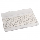 Rechargeable Bluetooth V3.0 82-Key Keyboard for Samsung Galaxy Note 10.1 2014 Edition P600 - White