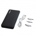 JR-011 Portable 9800mAh Dual USB External Battery Charger Power Source for IPHONE + More - Black