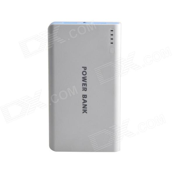 все цены на JR-013 Portable Dual USB 20000mAh External Battery Power Source Bank for IPHONE + More - White онлайн