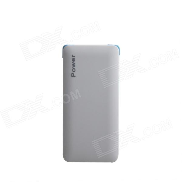 все цены на JR-011 Portable 9800mAh Dual USB External Battery Charger Power Source for IPHONE + More - White