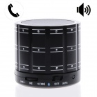 Diamonds Style 3-in-1 Rechargeable Bluetooth V4.0 Speaker w/ TF / Microphone / AUX Input - Black