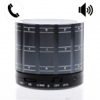 Diamonds Style 3-in-1 Rechargeable Bluetooth V4.0 Speaker w/ TF/ Microphone/ AUX Input - Silver Gray