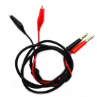 Jtron Alligator Clip Banana Plug Test Leads - Black + Red