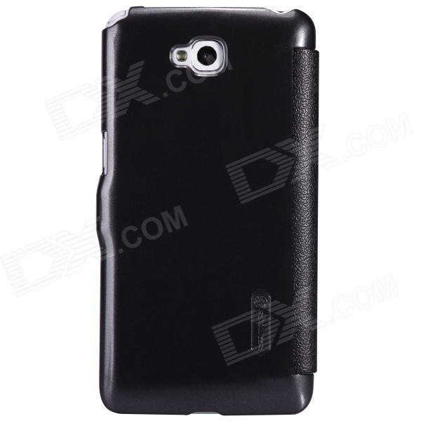NILLKIN Protective PU Leather + PC Case Cover for LG D684 / D686G Pro Lite - Black