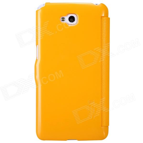 NILLKIN Protective PU Leather + PC Case Cover for LG D684 / D686G Pro Lite - Yellow nillkin protective pu leather pc case cover for samsung galaxy grand 2 g7106 yellow