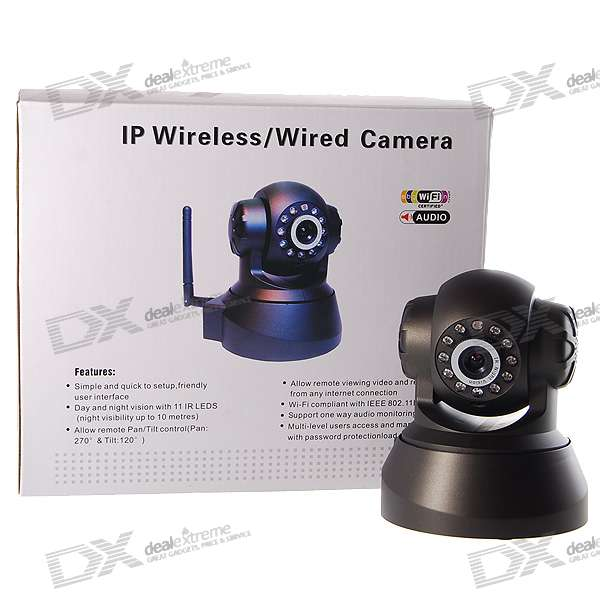 IP Wired Camera with Night Vision and Pan/Tilt Motors