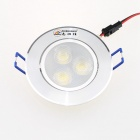 ZHISHUNJIA 3W 240lm 3000K 3-LED Warm White Light Ceiling Lamp - Silver (AC 85~265V)