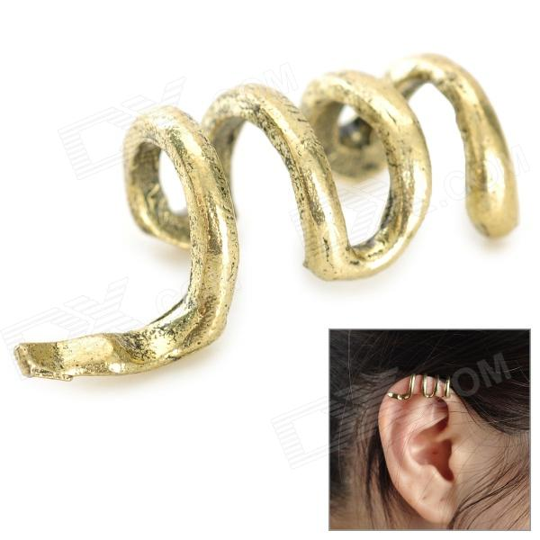 LX-1019 Punk Style Snake Shape Magnesium Alloy Women's Earring - Bronze one piece punk style snake embellished earring for women