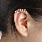 LX-1019 Punk Style Snake Shape Magnesium Alloy Women's Earring - Silver