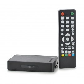 Mini 1080P Full HD Media Player w/ HDMI / USB / SD / VGA - Black