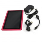 "Kiccy Q88pro 7.0"" Dual Core Android 4.2.2 Tablet PC med 512MB RAM, 4 GB ROM, TF Dual-kamera - rosa"