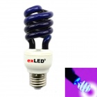 E27 15W Trap Lamp / UV Spiral Energy Saving Lamps - Purple + White