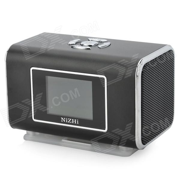 цена на NIZHI TT6 Portable Mini Music Speaker MP3 Player w/ FM / TF Card Slot - Black