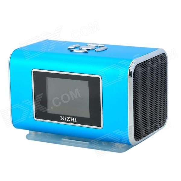 цена на NIZHI TT6 Portable Mini Music Speaker MP3 Player w/ FM / TF Card Slot - Blue