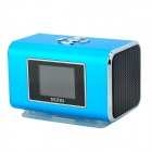 NIZHI TT6 Portable Mini Music Speaker MP3 Player w/ FM / TF Card Slot - Blue