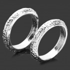 Fashionable Matte Zinc Alloy Couples Rings - White Silver (2 PCS)