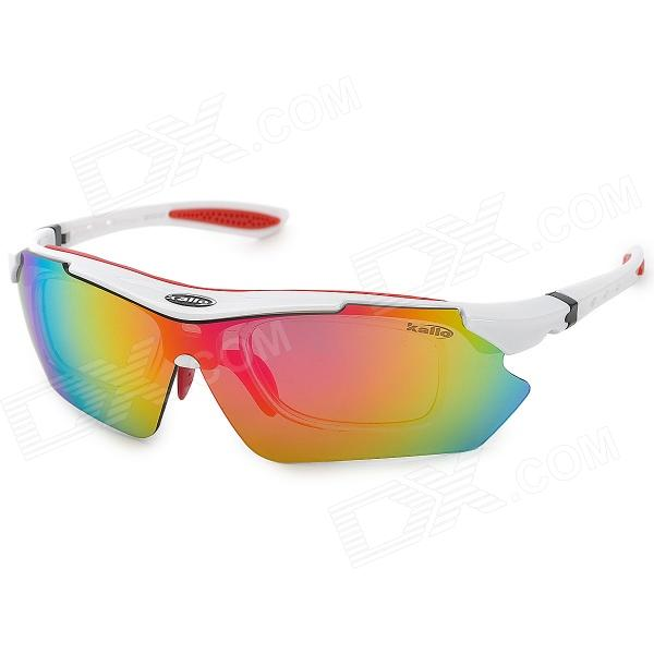 6ccc41351d KALLO 99150 Outdoor Sports UV400 Protective Polarized Sunglasses - White +  Red - Free Shipping - DealExtreme