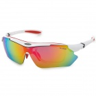 KALLO 99150 Outdoor Sports UV400 Protective Polarized Sunglasses - White + Red