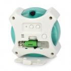 GT698 Multifunctional Water Power Clock - White + Green (1 x AA Battery)