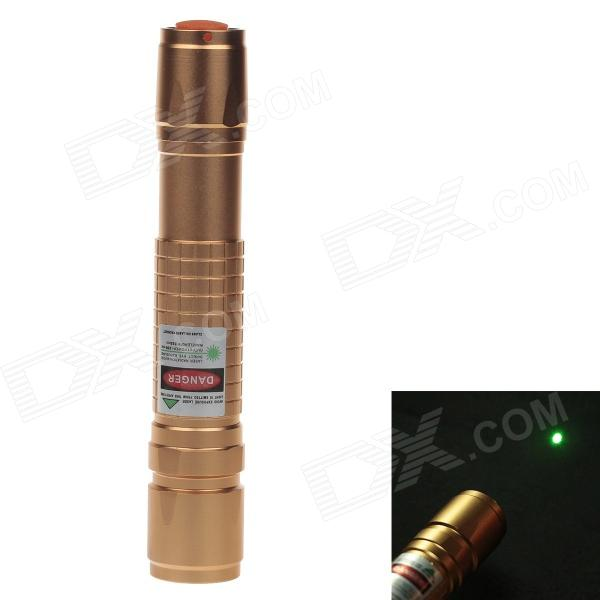 5mW 532nm pointeur laser vert + 18650 batterie + chargeur - rose or