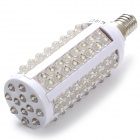 E14 3W 220lm 6500K 108 x LED White Light Lamp - White + Silver (AC 110~130V)