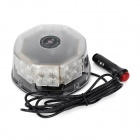 KINGLEASEN YL-803B 32W 32-LED Orange Light Ceiling Flashing Lamp - Black + Transparent (12V / 2.3m)