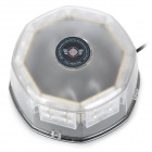 KINGLEASEN YL-803B 32W 32-LED Multi-color Light Ceiling Flashing Lamp - Black + Transparent (2.3m)