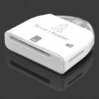 Micro USB OTG Smart Reader for Samsung Galaxy S2 / S3 / S4 / Note / Note 2 - Hvit (maks 32 GB)